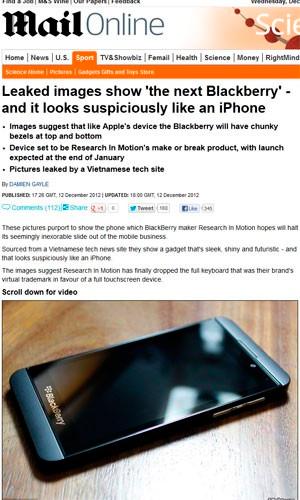 Novo BlackBerry