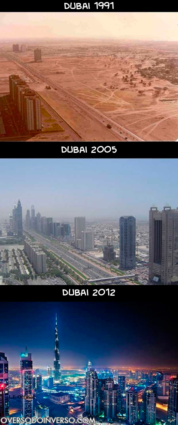 A evolução de Dubai