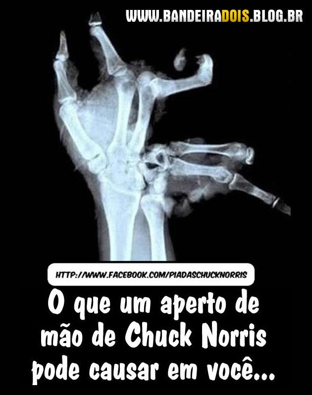 Aperto de mão do Chuck Norris