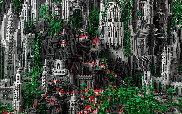 Castelo feito de lego
