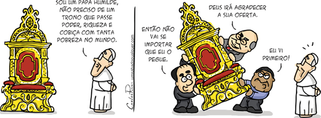 Papa Francisco abdica do trono papal