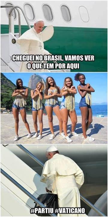 E o Papa chegou