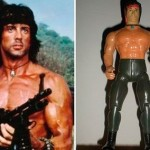 Sylvester Stallone como Rambo.