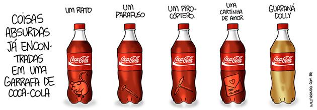 Enquanto isso na garrafa de Coca-Cola...
