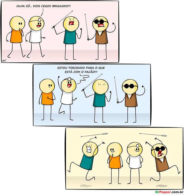 briga de cegos
