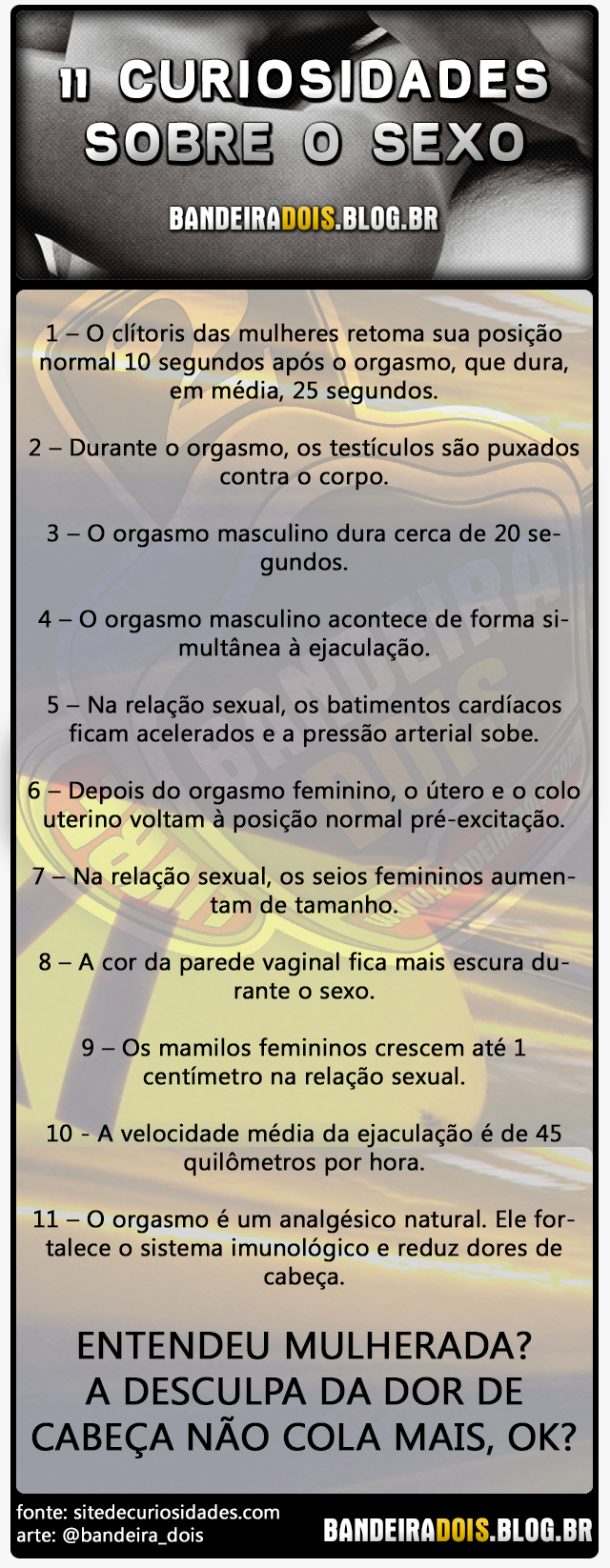 11 curiosidades sobre o sexo