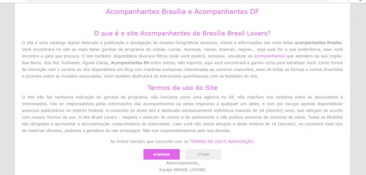 termos de uso do site Brasil Lovers