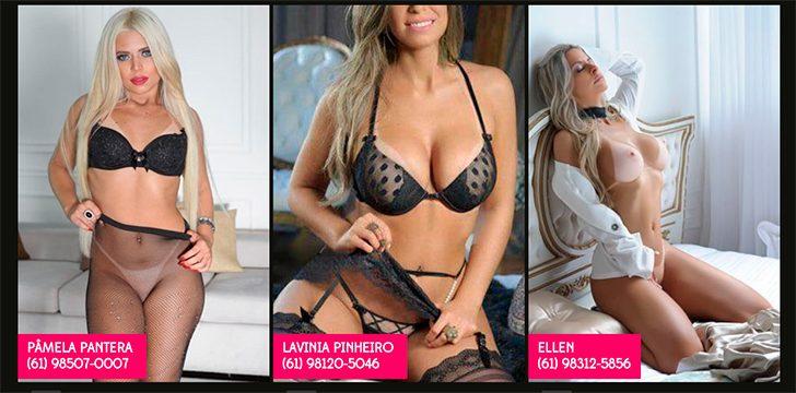 Três mulheres loiras nuas e seus telefones de contato | acompanhantes de luxo em Brasília